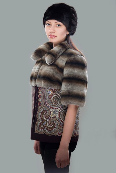 Coat with Two Types of Fur